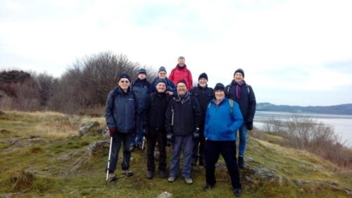 Our intrepid walkers gather to admire the view