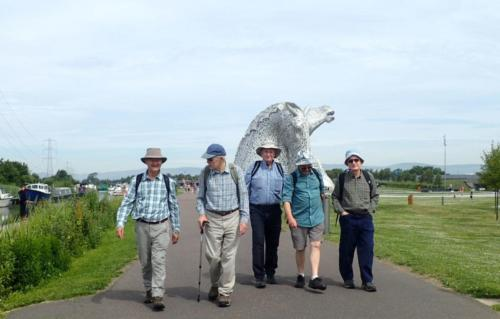 The boys set out from the Kelpies